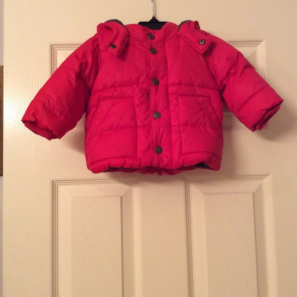 Baby GAP Boy Puffer Jacket Red Coat   Size  12-18 months